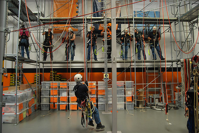 Training of Vertical Work Technical and Working at Heights
